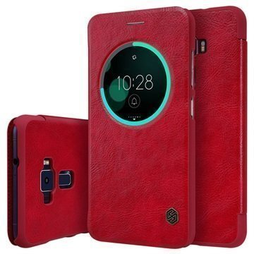 Asus Zenfone 3 ZE552KL Nillkin Qin Smart View Flip Case Red