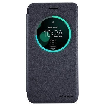 Asus Zenfone 3 ZE552KL Nillkin Sparkle Ikkunallinen Kotelo Musta