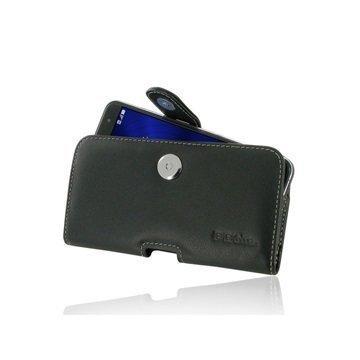 Asus Zenfone 3 ZE552KL PDair Vaakasuuntainen Nahkakotelo Musta