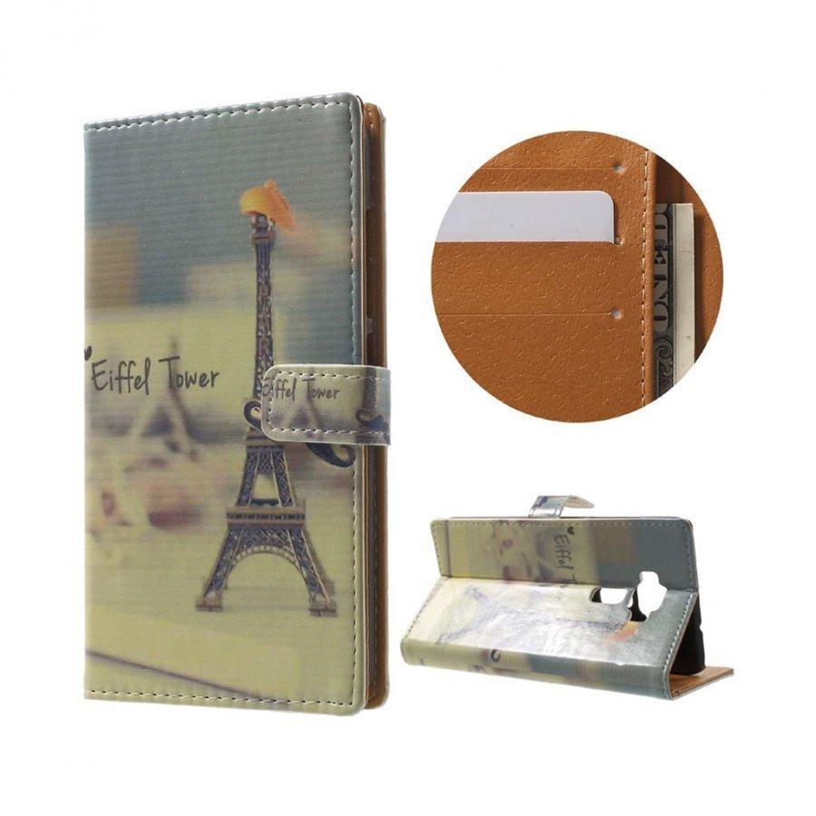 Asus Zenfone 3 Ze520kl Kuvioitu Nahkakotelo Eiffel Torni