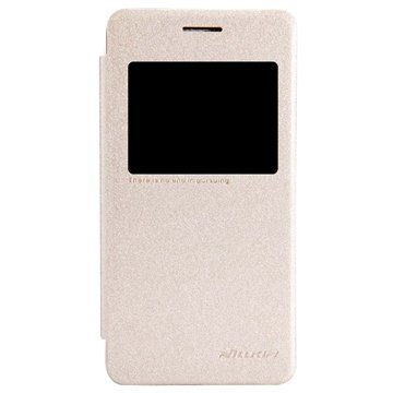 Asus Zenfone 4 A450CG Nillkin Sparkle Series Flip Leather Case Gold