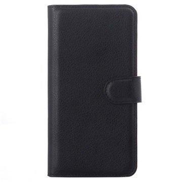 Asus Zenfone 5 Lite A502CG Kuvioitu Lompakkokotelo Musta
