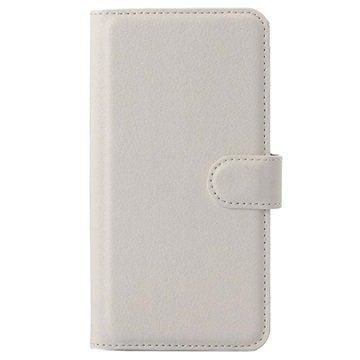 Asus Zenfone 5 Lite A502CG Kuvioitu Lompakkokotelo Valkoinen