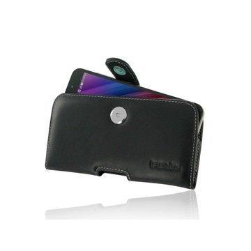 Asus Zenfone Max ZC550KL (2016) PDair Vaakasuuntainen Nahkakotelo Musta