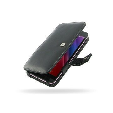 Asus Zenfone Selfie ZD551KL PDair Deluxe Book Type Nahkakotelo Musta