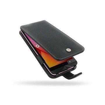 Asus Zenfone Selfie ZD551KL PDair Deluxe Nahkainen Läppäkotelo Musta