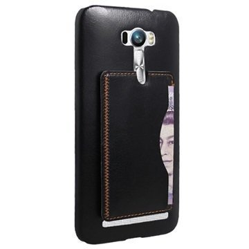 Asus Zenfone Selfie ZD551KL Retro Seisontatuki Kovakotelo Musta