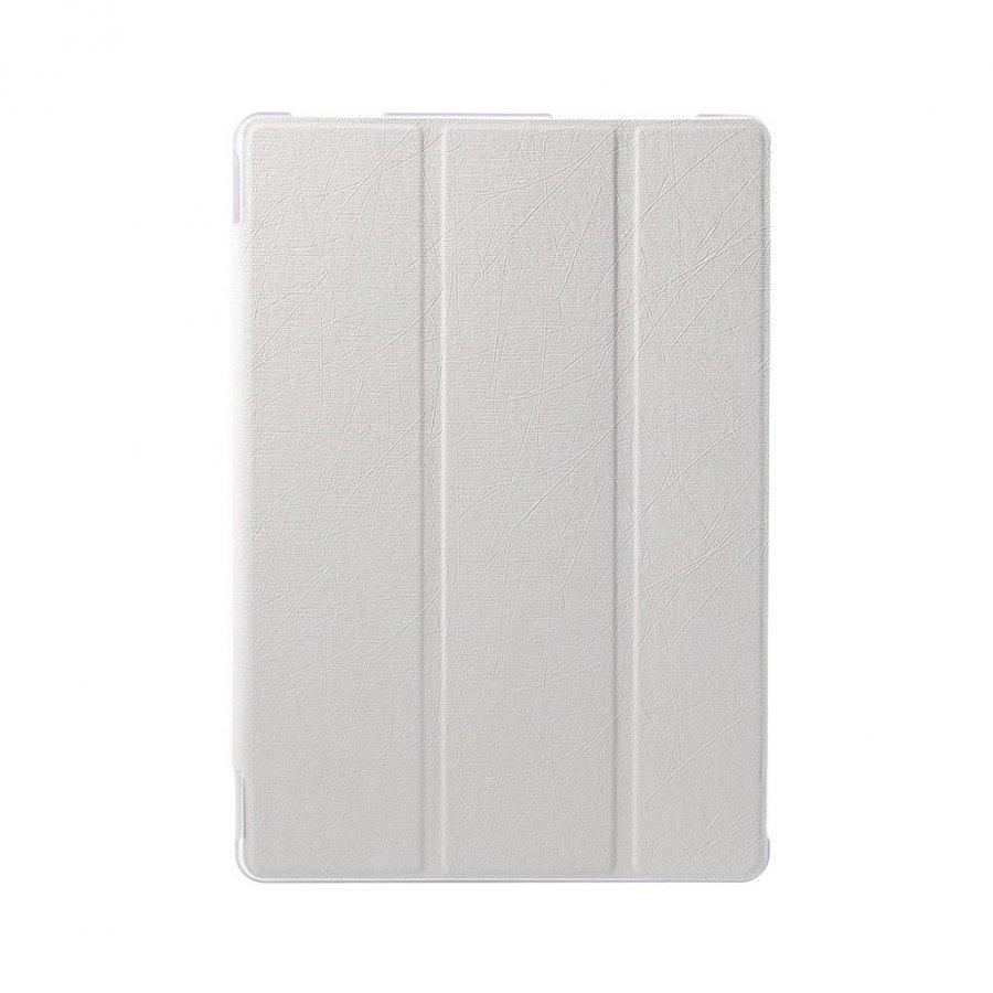 Asus Zenpad 10 Kolmesti Taittuva Nahkakotelo Standillä Valkoinen
