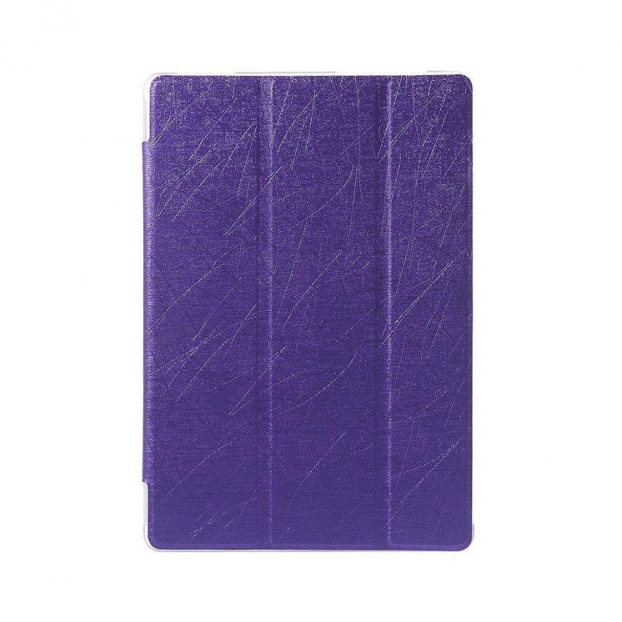 Asus Zenpad 10 Kolmesti Taittuva Nahkakotelo Standillä Violetti
