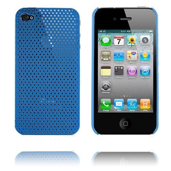 Atomic I4 Vaaleansininen Iphone 4 Suojakuori
