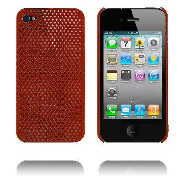 Atomic I4 Viininpunainen Iphone 4 Suojakuori
