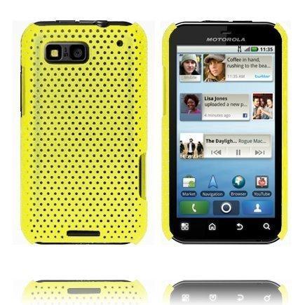 Atomic Keltainen Motorola Defy Suojakuori