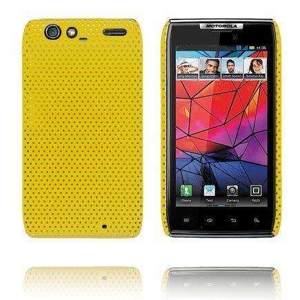 Atomic Keltainen Motorola Razr Suojakuori