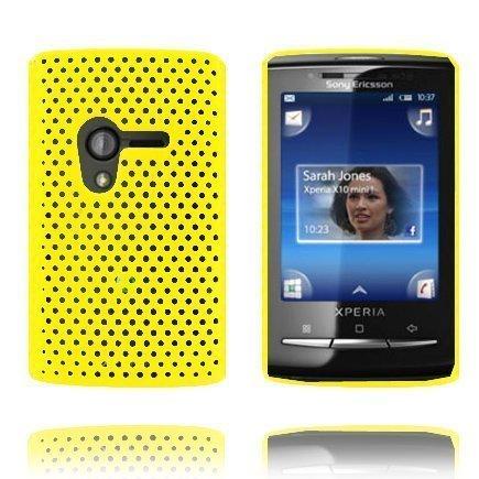 Atomic Keltainen Sony Ericsson Xperia X10 Mini Suojakuori