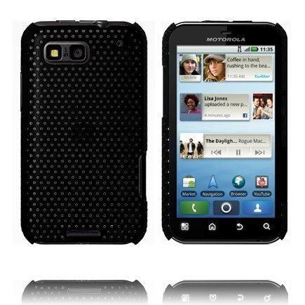 Atomic Musta Motorola Defy Suojakuori