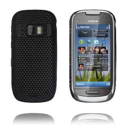 Atomic Musta Nokia C7 Suojakuori