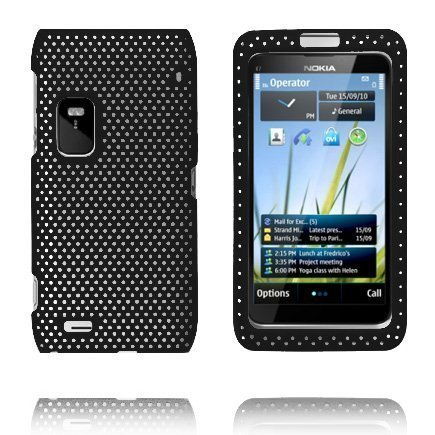 Atomic Musta Nokia E7 Suojakuori