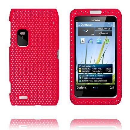 Atomic Punainen Nokia E7 Suojakuori