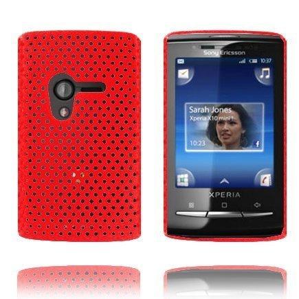 Atomic Punainen Sony Ericsson Xperia X10 Mini Suojakuori