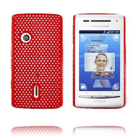 Atomic Punainen Sony Ericsson Xperia X8 Suojakuori