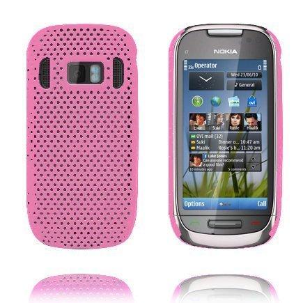 Atomic Vaaleanpunainen Nokia C7 Suojakuori