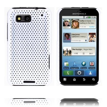 Atomic Valkoinen Motorola Defy Suojakuori