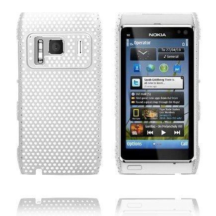 Atomic Valkoinen Nokia N8 Suojakuori