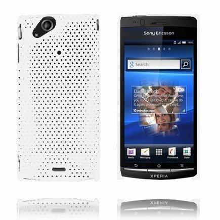 Atomic Valkoinen Sony Ericsson Xperia Arc Suojakuori