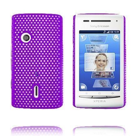 Atomic Violetti Sony Ericsson Xperia X8 Suojakuori