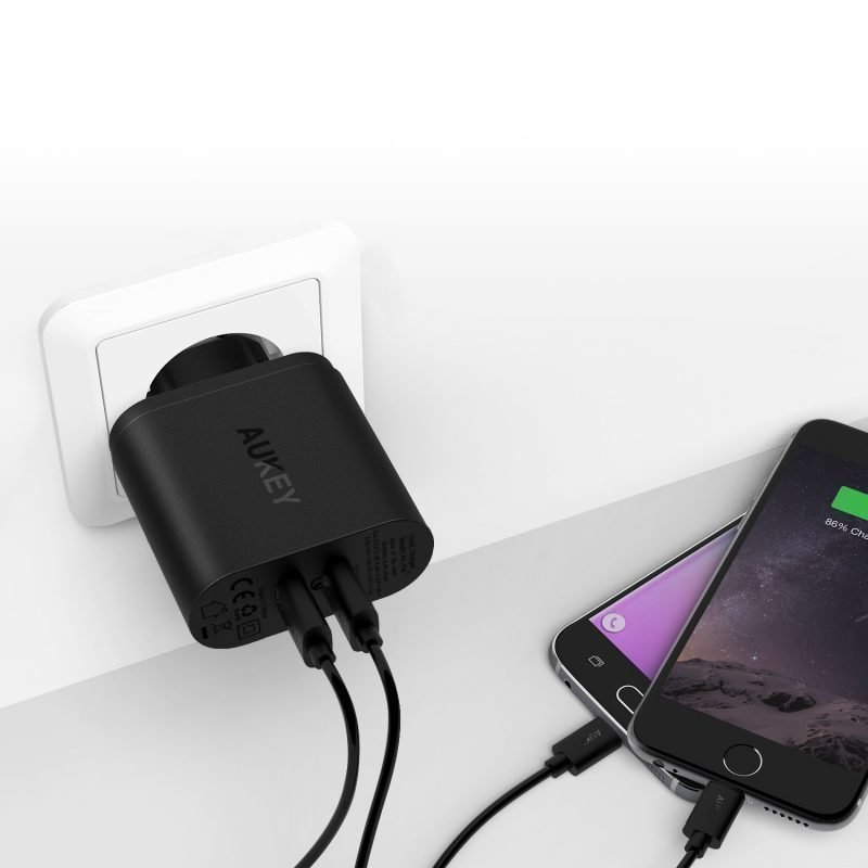 Aukey Dual USB Turbo Charger PA-T16 QC3.0