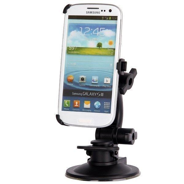 Autoteline 360 Asteen Säädöllä Samsung Galaxy S3 Musta