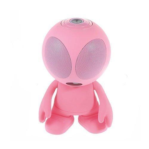 Avaruusolio Bluetooth Mini Kaiutin Mikrofonilla Pinkki