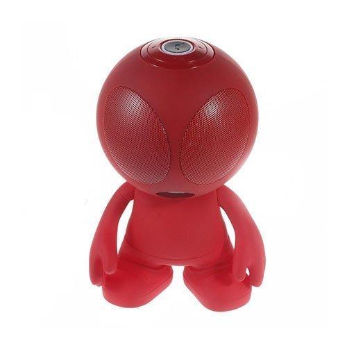 Avaruusolio Bluetooth Mini Kaiutin Mikrofonilla Punainen