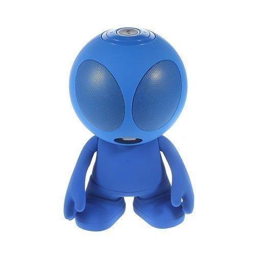 Avaruusolio Bluetooth Mini Kaiutin Mikrofonilla Sininen
