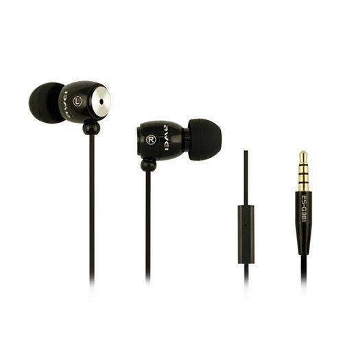 Awei-Q38i Metal Nappikuulokkeet Mikrofonilla Musta