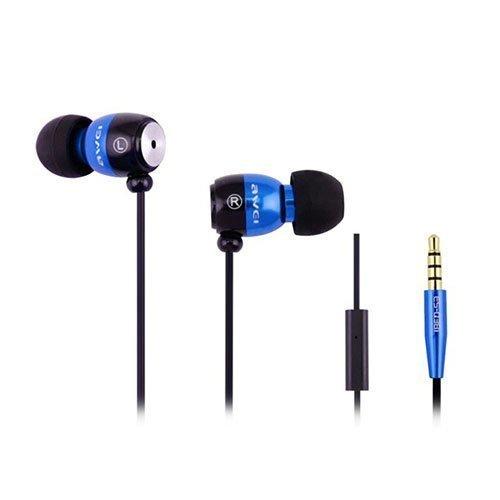 Awei-Q38i Metal Nappikuulokkeet Mikrofonilla Sininen