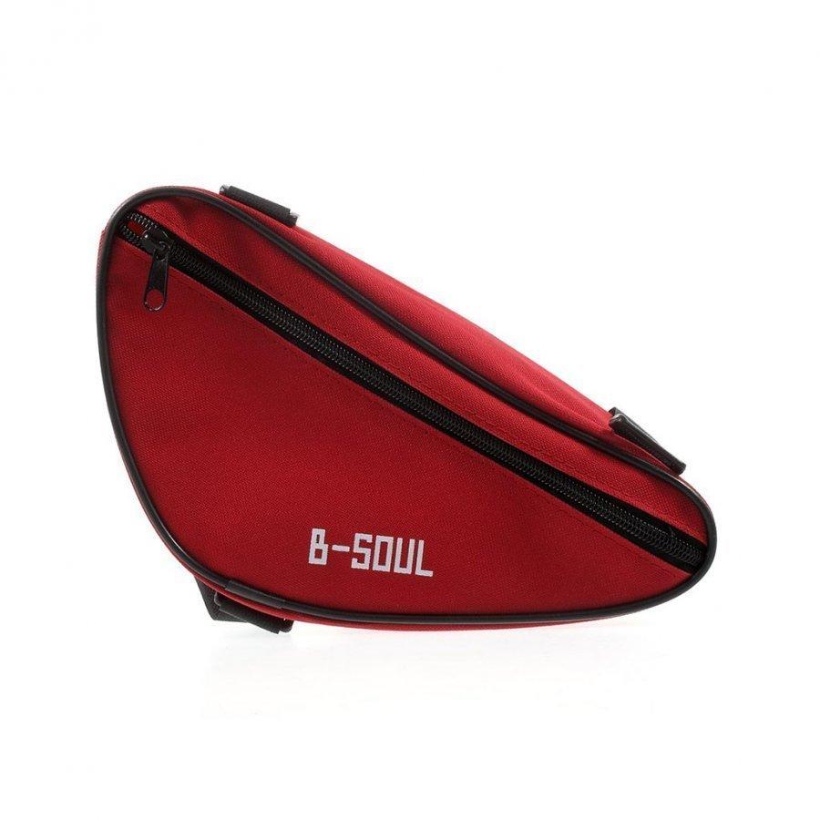 B-Soul Kolmion Muotoinen Satulalaukku Punainen