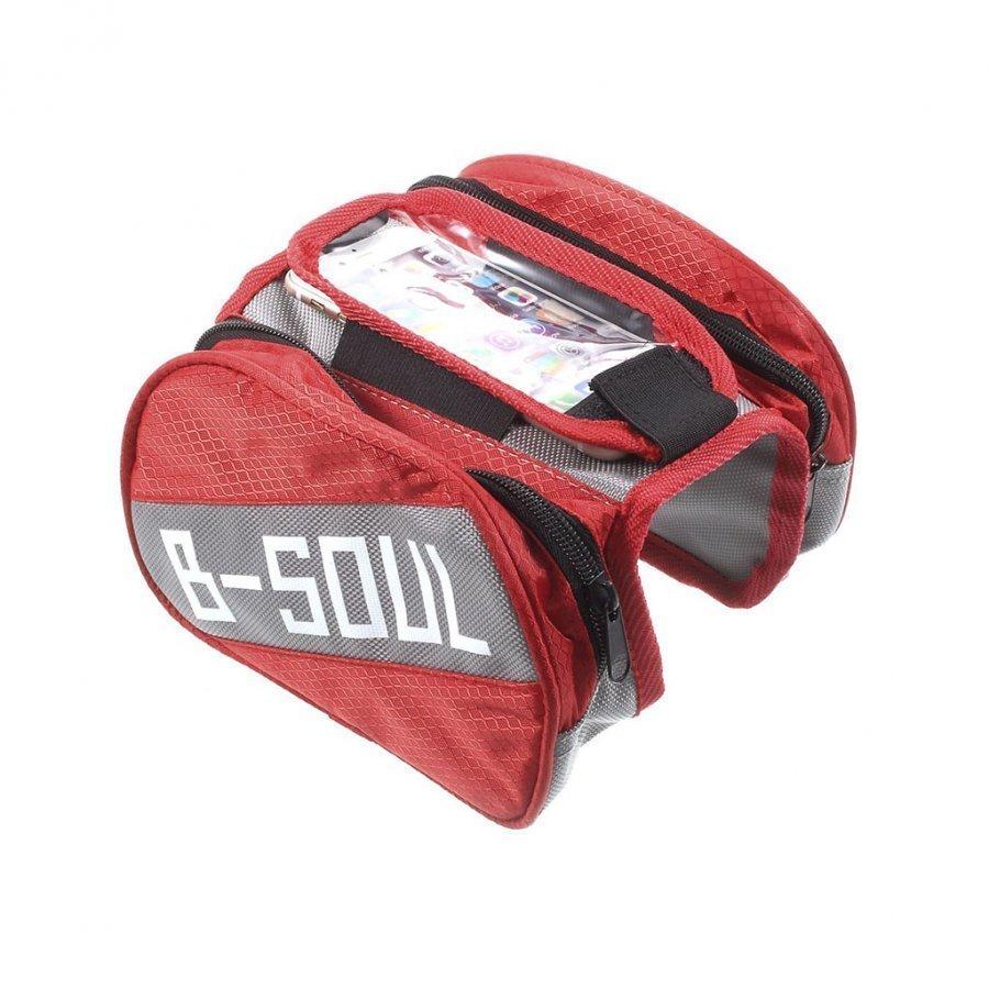 B-Soul Oxford Kangas Irrotettava Pyörälaukku Älypuhelimille Punainen