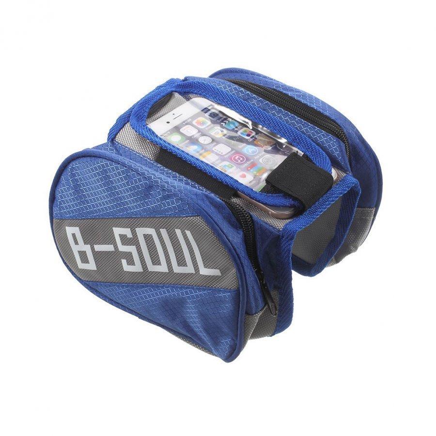 B-Soul Oxford Kangas Irrotettava Pyörälaukku Älypuhelimille Tummansininen