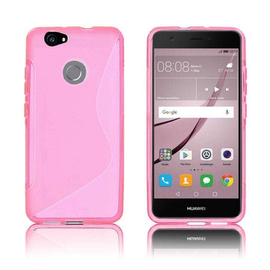 Bakker Huawei Nova S-Muotoinen Joustava Muovikuori Kuuma Pinkki