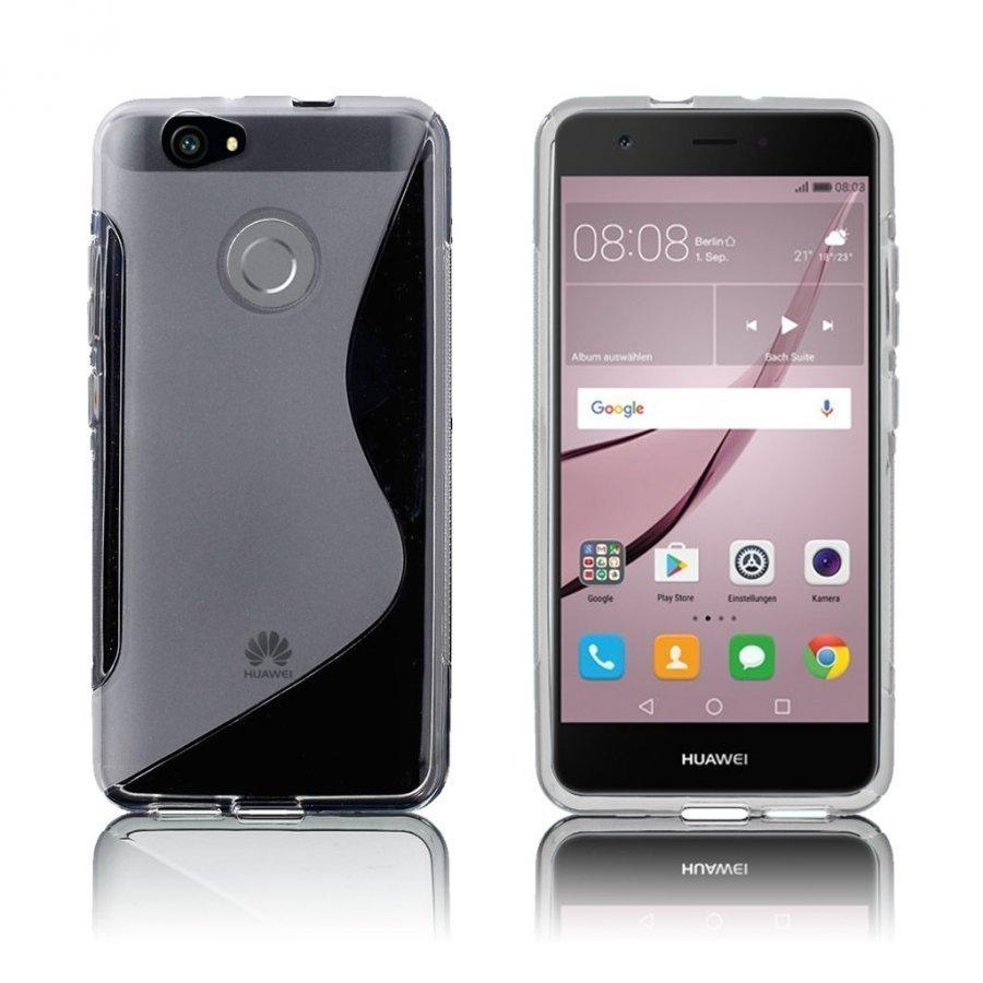 Bakker Huawei Nova S-Muotoinen Joustava Muovikuori Läpinäkyvä