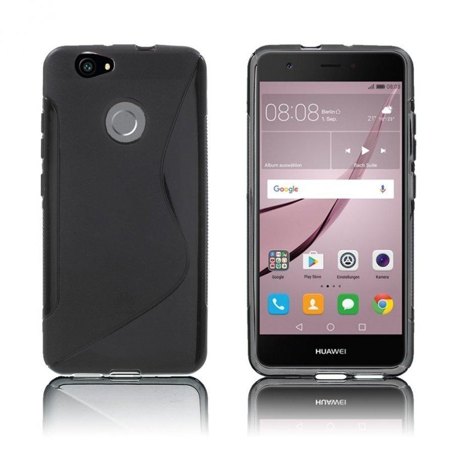 Bakker Huawei Nova S-Muotoinen Joustava Muovikuori Musta