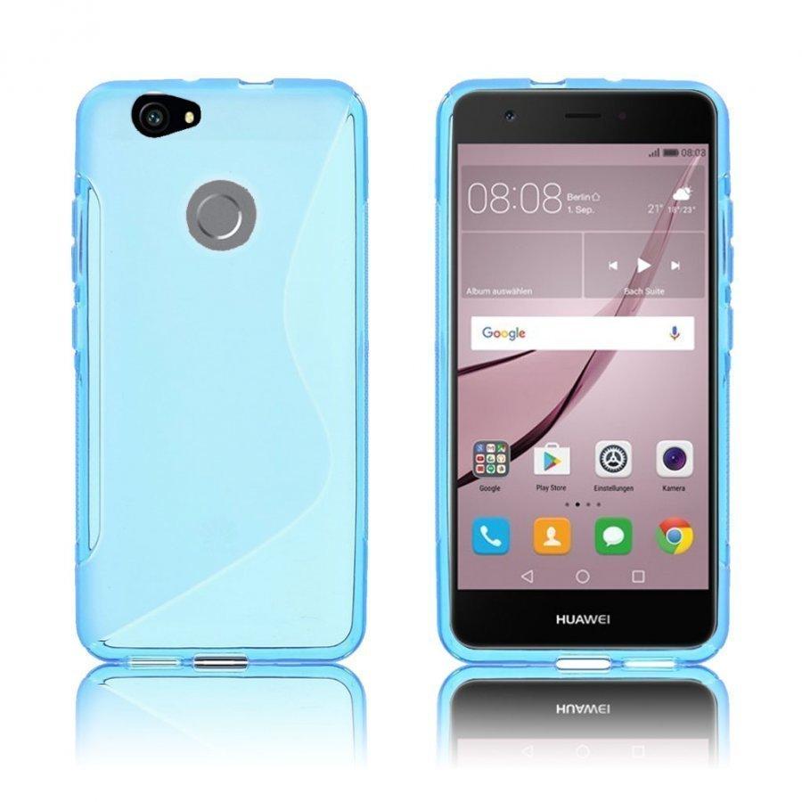 Bakker Huawei Nova S-Muotoinen Joustava Muovikuori Sininen