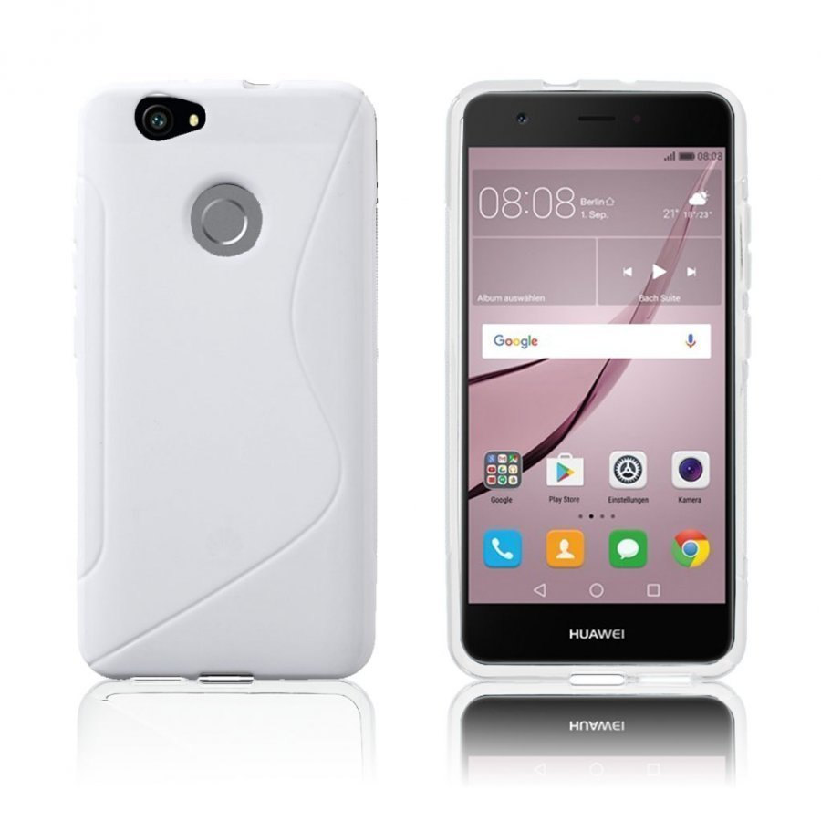 Bakker Huawei Nova S-Muotoinen Joustava Muovikuori Valkoinen