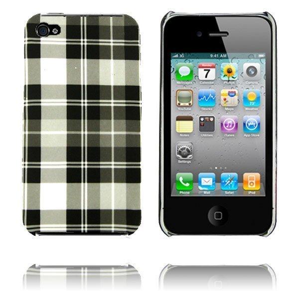 Barsberry 4 Musta Ruutukuvio Iphone 4 / 4s Suojakuori