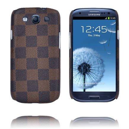 Barsberry Chess Ruskea Samsung Galaxy S3 Suojakuori