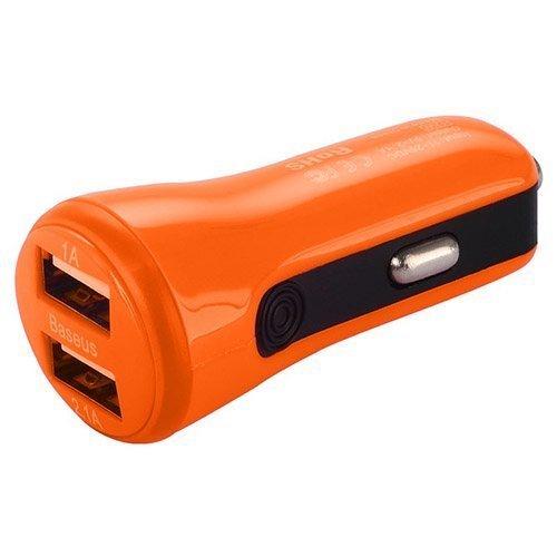 Baseus Oranssi Usb Autolaturi Älypuhelimille Kahdella Ulostulolla