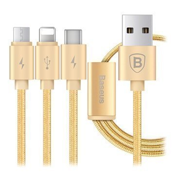 Baseus Portman Series 3-in-1 USB Cable Gold