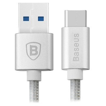 Baseus Sharp Series USB 3.0 / USB 3.1 C-tyypin kaapeli Hopea