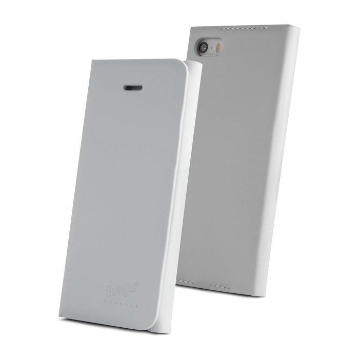 Beeyo Book Carry Lompakkomallinen suojakotelo iPhone 5 / 5S Valkoinen